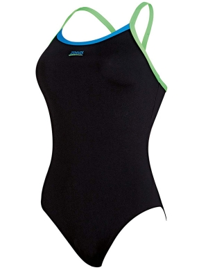 Zoggs Cannon Strikeback Swimsuit Navy/Lime/Sky Blue