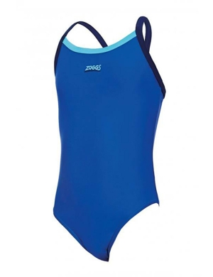 Zoggs Kerrawa Strikeback Swimsuit Blue/Navy (6-15yrs)
