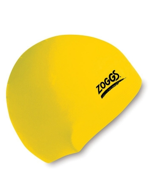 Zoggs Senior Silicone Cap Yellow