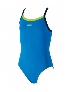 Zoggs Girls Kerrawa Swimsuit Blue (6 - 15yrs)