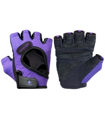 Harbinger Women's Flex Fit Weightlifting Gloves  Purple (Clearance)