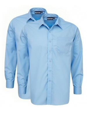 Banner Boys Long Sleeve Shirts Blue 2 pack