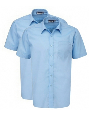 Banner Boys Short Sleeve Shirts Blue 2 pack