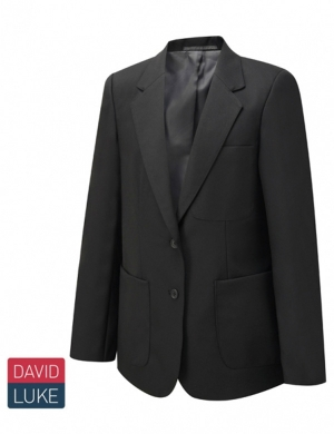 David Luke DL1991 Girls Eco Premier Blazer Long Fit Black