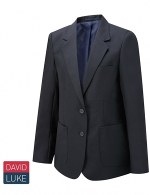 David Luke DL1991 Girls Eco Premier Blazer Long Fit Navy