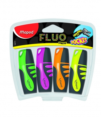 Fluo Pep Pocket Soft 4pk Highlighters