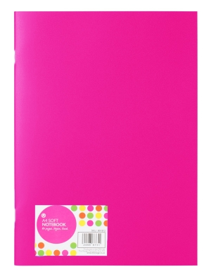 A4 Soft Cover Notebook Pink