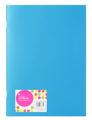 A4 Soft Cover Lined Notebook Turquoise