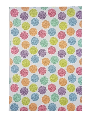 A5 Hardback Fashion Design Lined Notebook Rainbow Dots