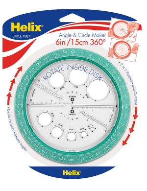 Helix Angle & Circle Maker - Teal
