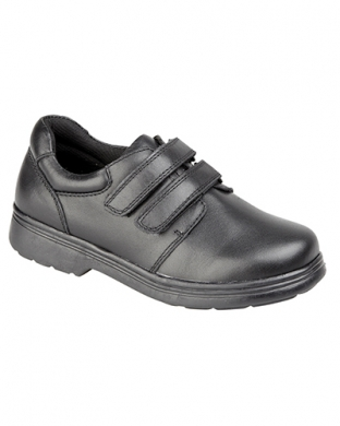 Just Good B729A Leather Velcro Junior Shoe (Clearance)