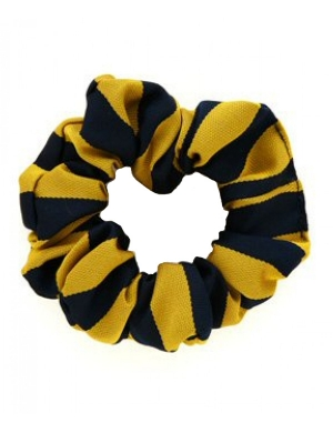 Navy & Gold Scrunchie 1pk
