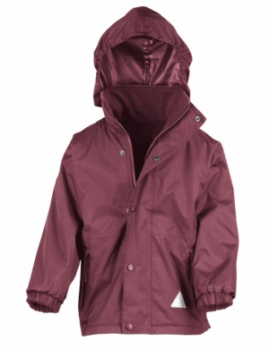 Reversible Jacket RS160 Burgundy - 100% Waterproof