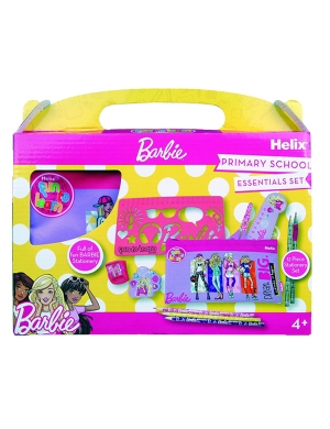 Barbie Primary School Stationery Set - 12 Piece
