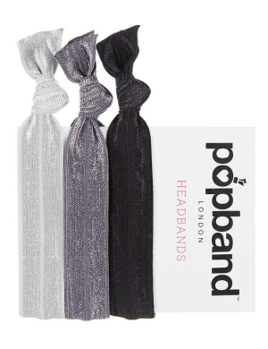 Popband Headband 3pk Black