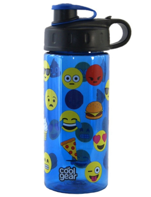 Cool Gear Straightwall Blue Emoji Bottle 16oz