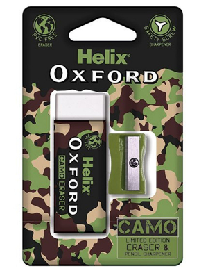 Oxford Camo Eraser & Sharpener Green