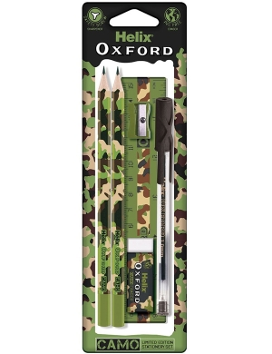 Oxford Camo Student Set 6 Pieces Green