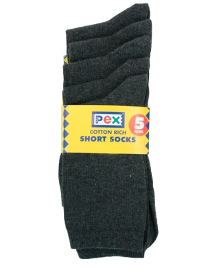 Ankle Socks 5 pack Charcoal