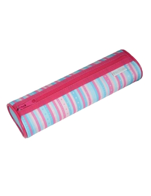 Candy Stripe Oval Pencil Case