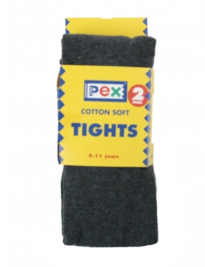 Super Soft Cotton Rich Tights 2 pack Charcoal