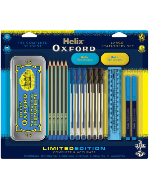 Oxford Clash Bulk Stationery Pack Blue/Yellow