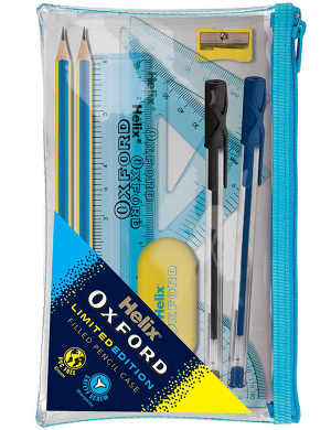 Oxford Clash Limited Edition Filled Pencil Case Blue/Yellow
