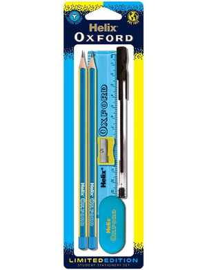 Oxford Clash Student Stationery Set Blue/Yellow