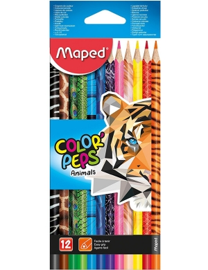 Color'Peps Animal Colouring Pencils 12pk