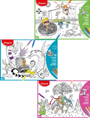 Maped A3 Paper Colouring Placemats 15pk