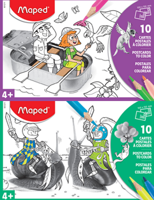 Maped Colouring Postcards 10pk