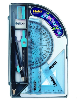 Cool Curves Maths Set - Blue