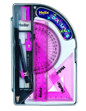 Cool Curves Maths Set - Pink