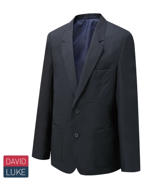 David Luke Boys Eco Premier DL1990 Blazer Navy Long Fit