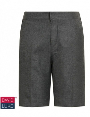David Luke DL947 Bermuda Junior & Senior Boys Short Grey