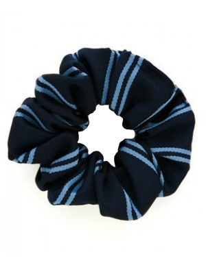 Navy & Sky Blue Scrunchie 1pk