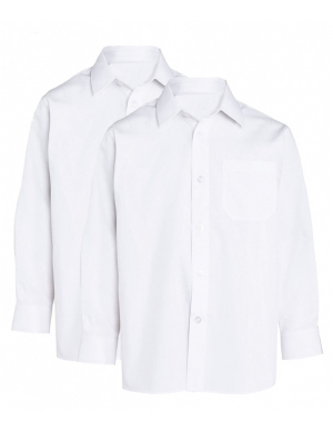 Trutex Long Sleeve Shirts White 2 pack
