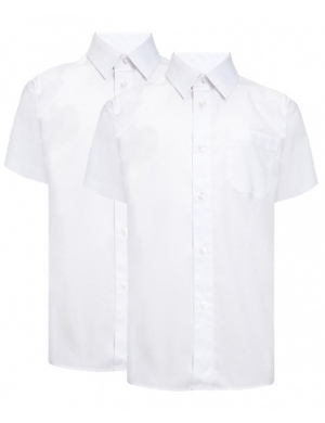 Trutex Short Sleeve Shirts White 2 pack