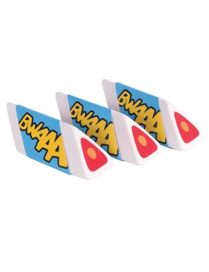 Rabbids Triangular Erasers 3pk