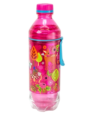 Cool Gear Soda Bottle 18oz Forest Friends