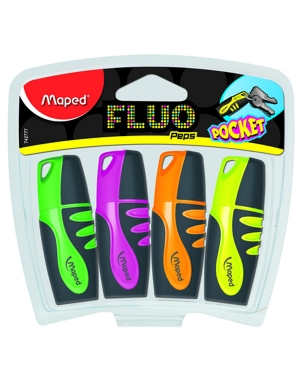 Fluo'Peps Pocket Soft Highlighters 4pk