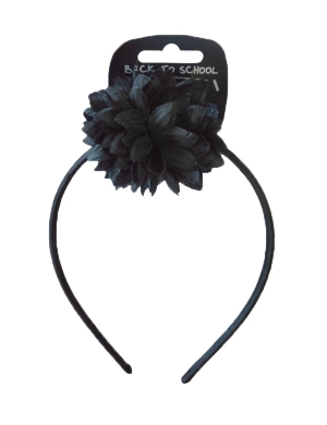 Flower Bobble & Alice Band Black