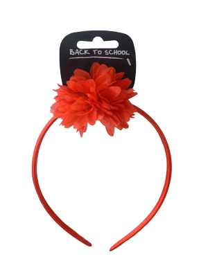 Flower Bobble & Alice Band Red