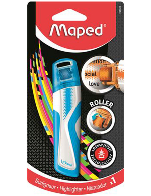 Maped Roller Highlighter Blue