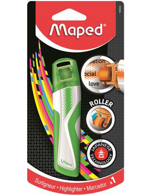 Maped Roller Highlighter Green