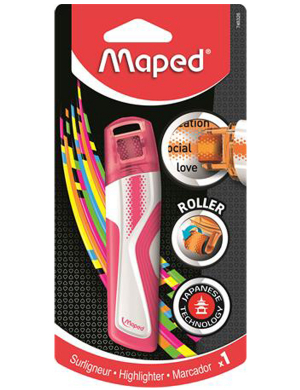 Maped Roller Highlighter Pink