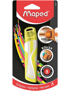 Maped Roller Highlighter Yellow