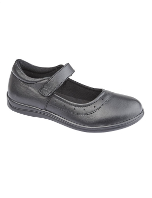 Roamers G859A Leather Velcro Shoe