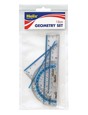 Geometry Set 15cm 4 Pieces