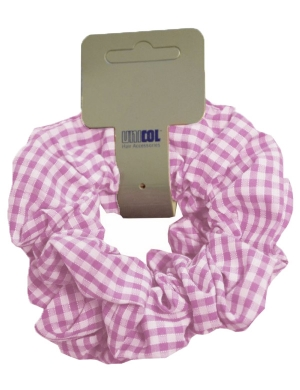 Scrunchie 2pk Gingham Pink